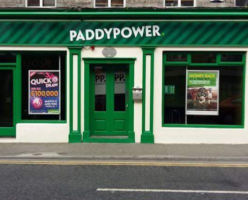 paddypower ireland being painted